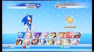 SEGA Superstars Tennis Character Select