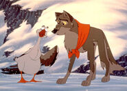 Boris encouraging Balto