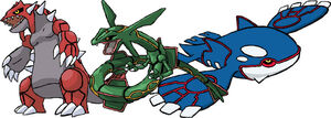 Groudon rayquaza and kyogre by azza17-d4188w3