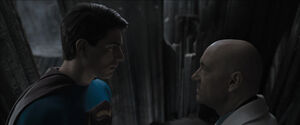 Superman Returns facing Lex Luthor