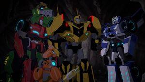 Bee Team in Nightstrike's cave