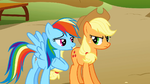 Rainbow Dash irritating Applejack S1E13
