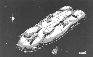 Rifts - CAF Scimitar-class Light Patrol Ship (Rifts Dimension Book, Phase World)