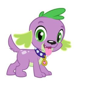 Equestria Girls Spike dog wearing collar with tag