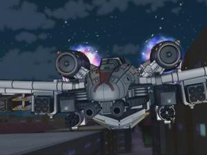 Wing Saber chasing Thunderblast