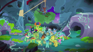 Changelings celebrating Hearth's Warming MLPBGE