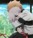 Kotarou Tennouji hug Kagari (Rewrite Ep 11)