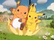 Pikachu & Raichu racing