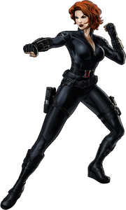 Black Widow-B Portrait Art