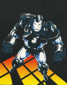 James Rhodes (Earth-616) with JRXL-1000 armor unibeam incorporated