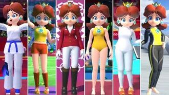 Mario & Sonic at the Olympic Games Tokyo 2020 - All Daisy Outfits