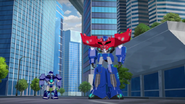 Optimus and Hi-Test (After beating Laserbeak)