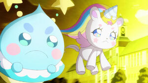 STPC35 Prunce and Fuwa are amazed by the power