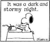 Snoopy writes