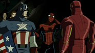 Spiderman with cap and iron man aemh