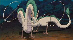 Haku in dragon form