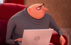 Gru on his Grubook pro