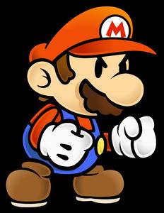 PMTTYD Angry Mario Artwork