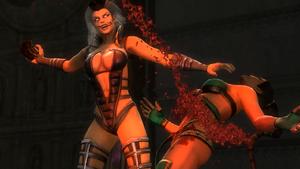 Sindel kills Jade