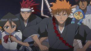 Ichigo and his friends get ready