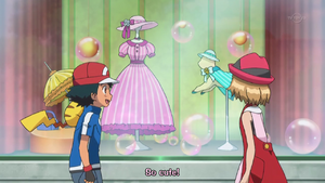 PKMXYZEP45 - Serena Sees Outfit Ash Shows Her