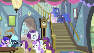 Sweetie Belle this is my fifth birthday party S4E19