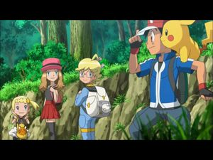 Ash and his friends