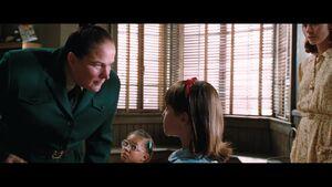 Matilda and Ms Trunchbull's agure