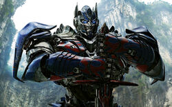 Optimus prime in transformers 4-wide
