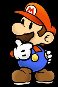PMTTYD Mario Thinking Artwork