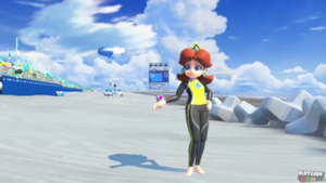 Princess Daisy surfing suit