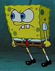 Spongebob stands up