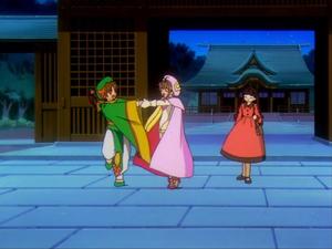 Sakura, Syaoran and Tomoyo