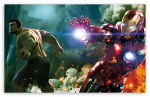 The avengers hulk and ironman-t2
