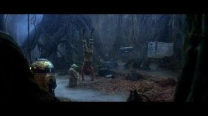 "Empire Strikes Back Yoda training Luke part 4 Luke's vision of the future ""There is another"" (HD)"