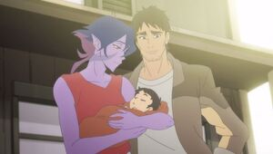 Krolia with her family