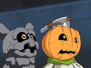 Pumpkinmon and Gotsumon