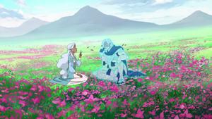 Allura and Alfor AI in Flower Field