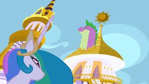 Princess Celestia Spike Twilight's Power S1E23