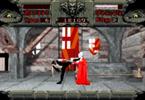 Bram Stoker's Drcaula - Jonathan Harker about to kick Dracula in the face as seen in the Sega CD version of Bram Stoker's Drcaula
