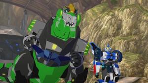 Grimlock, Laserbeak and Strongarm