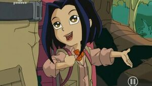 Jade in her explorer outfit