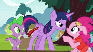 Twilight, Spike and Pinkie