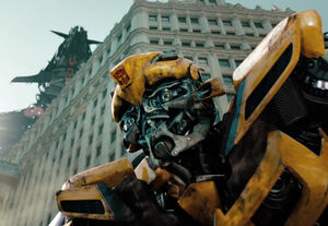 Bumblebee releasing stress after his old friend Que got killed by Soundwave