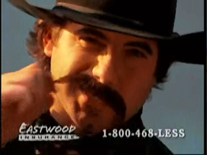 Eastwood Insurance Cowboy having a showdown with the villain