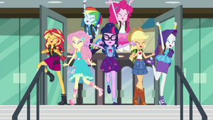 Equestria Girls leaving the school EGDS22