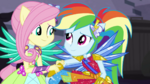 Fluttershy giving Rainbow Dash a helping hand EGDS11