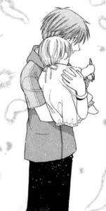 Hiro hold his baby sister