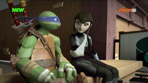 Leonardo and Karai (Owari)