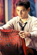 Peter Parker dons his new Spidey suit TM